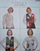 McCall's 7892 - Vest Pattern Holiday Designs - Sz 20-22