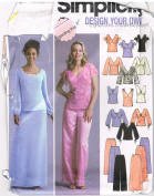 Simplicity 5445 Design Your Own Formal Top Skirt Pants