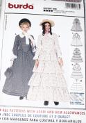 OOP Burda Historical Costume Pattern 2768. Misses Szs 10;12;14;16;18;20;22;24;26 Dresses & Hoop Petticoat.