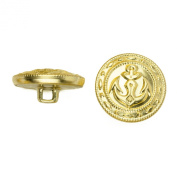 C & C Metal Products 5019 Fancy Edge Anchor Metal Button, Size 36 Ligne, Gold, 36-Pack