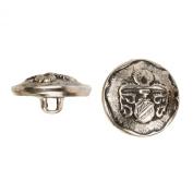 C & C Metal Products 5029 Heraldic Metal Button, Size 36 Ligne, Antique Nickel, 36-Pack