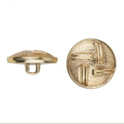 C & C Metal Products 5035 4 Dual Lines Metal Button, Size 36 Ligne, Gold, 36-Pack