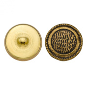 C & C Metal Products 5063 Rope Rim Fish Sale Surface Metal Button, Size 36 Ligne, Antique Gold, 36-Pack