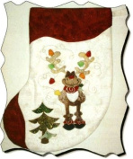 """Rudy"" the Reindeer Christmas Stocking (Lined) Pattern"