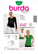 Burda Start T-Shirt Sewing Pattern 8120cm Sizes 6 - 18