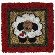 Round Sheep Punch Needle Kit-7.6cm - 0.6cm x 8.3cm