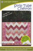 Strip Tube Chevron quilting pattern by Daniela Stout