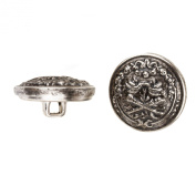 C & C Metal Products 5026 Duelling Knights Metal Button, Size 30 Ligne, Antique Nickel, 36-Pack