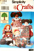 OOP Simplicity Pattern 7284. Stuffed Rag Doll & Clothes