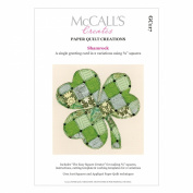 McCall's Creates W10616 Paper Quilt Creations Craft Pattern, Shamrock Greeting Card