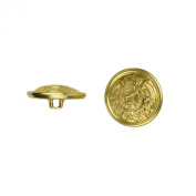 C & C Metal Products 5030 Heraldic Metal Button, Size 30 Ligne, Gold, 36-Pack