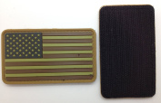 US Flag Matrix PVC Patch - High Quality PVC Rubber Brown, Black and Green