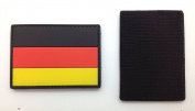 Germany Flag Matrix PVC Patch - High Quality PVC Rubber Black, Red and Yellow