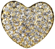 Rhinestone Button BRB-106, 2.5cm Gold Resin Base Button, Each Carded