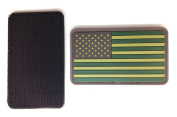 US Flag Matrix PVC Patch - High Quality PVC Rubber Green and Grey
