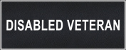 """Disabled Veteran"" Medium nylon hook and loop patches by Dean & Tyler."