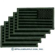 Reverse American Flag Patch (Olive/Black) 5 PACK