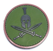 Spartan Helmet hook and loop Patch - Green