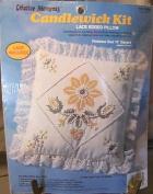 Yellow Daisy Lace Edge Pillow Candlewick Craft Kit