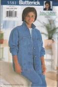 Butterick 5581 Delta Burke Blue Jean Denim Jacket Vest 16W 18W 20W