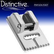 Distinctive Pintuck Sewing Machine Presser Foot - Fits All Low Shank Snap-On Singer*, Brother, Babylock, Euro-Pro, Janome, Kenmore, White, Juki, New Home, Simplicity, Elna and More!