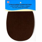 2 pc/pkg 11.3cm x 14.8cm IRON-ON DARK BROWN FAUX-SUEDE ELBOW PATCHES