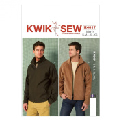 KWIK-SEW PATTERNS K4017 Men's Jackets Sewing Template, All Sizes