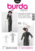 BURDA STYLE 7029 BELLE EPOQUE DRESS / 1920'S COSTUME SEWING PATTERN MISSES' / PLUS SIZES