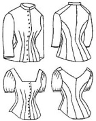 1879 Cuirass Bodice with Evening Options Pattern