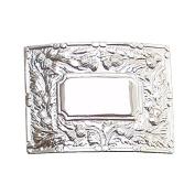 Brand New Celtic Thistle Kilt Buckle in Chrome Plated Mirror Design