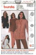 Burda Sewing Pattern 8697 Misses Sizes 10-12-14-16-18-20-22 Easy Shirt Jacket