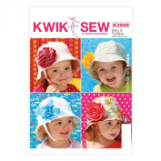 KWIK-SEW PATTERNS K3989OSZ Babies'/Toddlers' Hats Sewing Template, All Sizes