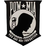 POW MIA White/Black 20cm Patch