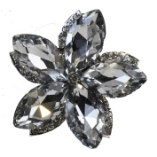 Rhinestone Brooches BW-102 Rhinestone Floral Brooch with Pin