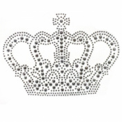 Rhinestone Iron on Transfer Hot Fix Motif Fashion Silver Crown Design 3 Sheets 5.5*9.9cm