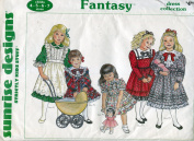 Sunrise Designs Pattern ~ Girls' Fantasy Dress Collection ~ 4-5-6-7
