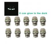 NAVY 10 pcs/Lot GITD Skeleton Skull Knife Flashlight Paracord Bracelet Accessories.