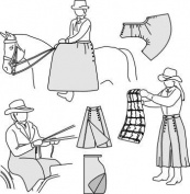 Suitability 6500 Sidesaddle apron, Driving apron, & Riding Skirt Equestrian Sewing Pattern