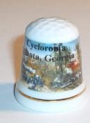 Battle of Atlanta Commerative Porcelain Thimble