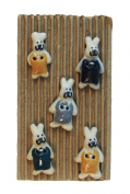 Ceramic Buttons - BUNNY RABBIT Style 151