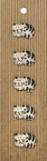 Ceramic Buttons - Cats Style 34