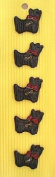 Ceramic Buttons - Dog Style 45