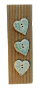 Ceramic Buttons - HEARTS Style 483