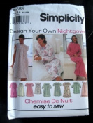 "Simplicity 9289 Misses' Nightgown ""Design Your Own Nightgown"""