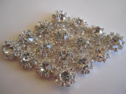 8.75CM Sew on Diamond Rhinestone Applique from Cosmetic Counter