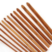 12 Sizes Bamboo Crochet Hooks Knitting Needles 3.0-10mm