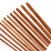 12 Sizes Bamboo Crochet Hooks Knitting Needles 3.0-10mm