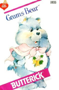 BUTTERICK 6933 CARE BEARS (CAREBEARS) grammes BEAR SEWING PATTERN ~ STUFFED TOY TEDDY BEAR