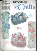 Simplicity Crafts Sewing Pattern 9634 - Babies' Accessories Includes Panties and Hats in Three Sizes