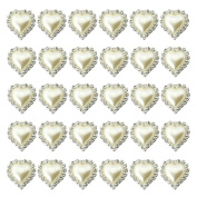 2013newestseller 30pcs Full Heart Rhinestone Buckles Sliders Cute DIY Sets